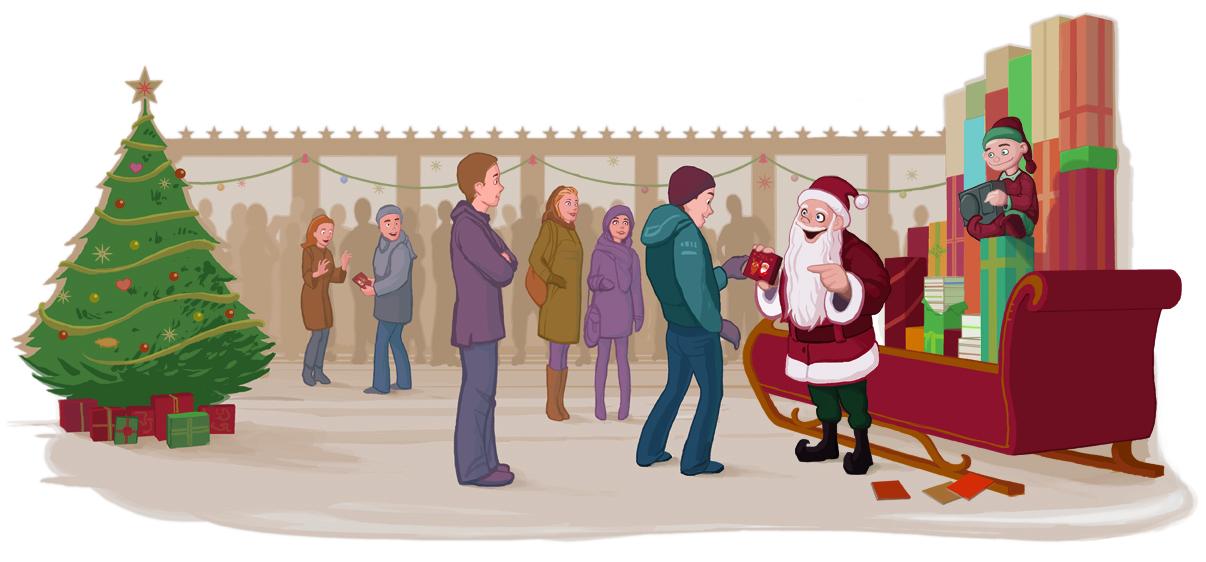 Illustrasjon til artikkel om julemusikk i førjulstiden. Kunde: Bergens Tidende. (Photoshop)