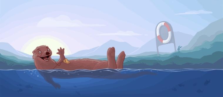 En av totalt 29 tegninger til nettportalen svommedyktig.no, som er en del av regjeringens satsning på bedre svømmeopplæring i skolen. Kunde: Nasjonalt senter for Mat, Helse og Fysisk Aktivitet. (Photoshop)
