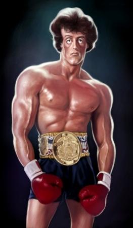 Personlig karikatur av Rocky Balboa. (Photoshop)