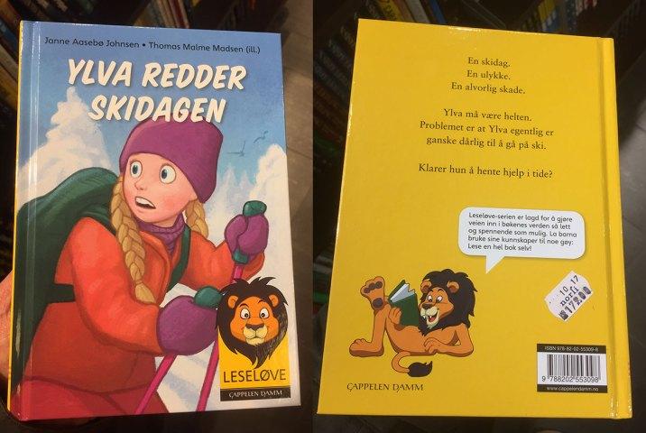 Barneboken Ylva Redder Skidagen er nå tilgjengelig i alle større bokhandlere. Kan også kjøpes på nett. Boken er skrevet av Janne Aasebø Johnsen, og illustrert av meg med til sammen 18 tegninger. Her er det bare å hive seg rundt og investere i et eksemplar (eller to). Hopp og shopp! 🙂