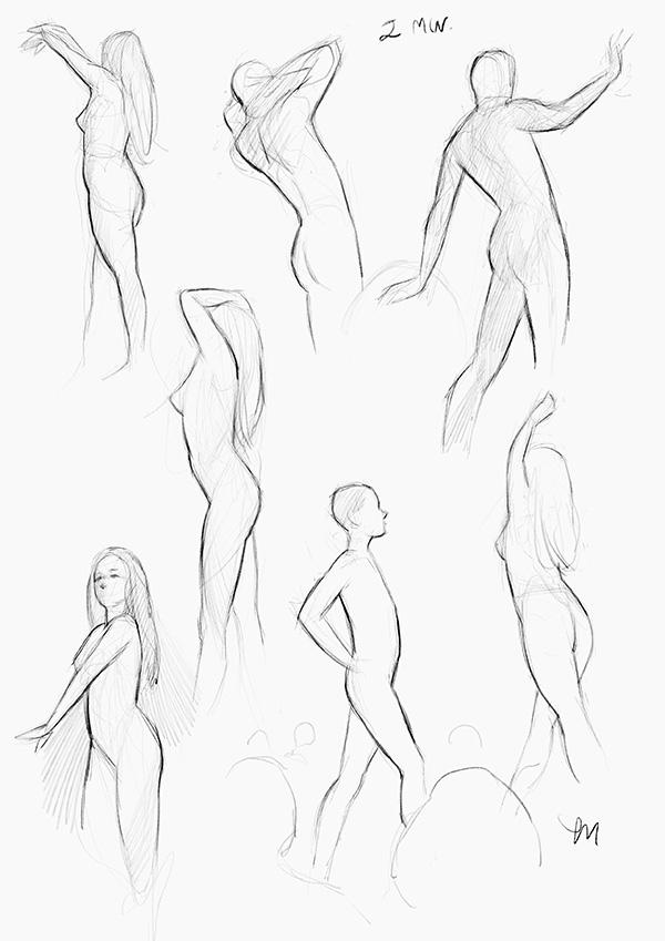 Sketch Night at Society of Illustrators, New York. 2 minutter iPad Pro (Procreate)