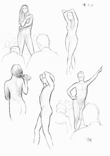 Sketch Night at Society of Illustrators, New York. 4 minutter iPad Pro (Procreate)