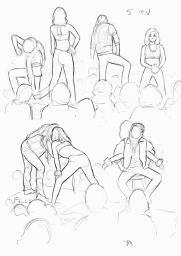 Sketch Night at Society of Illustrators, New York. 5 minutter iPad Pro (Procreate)