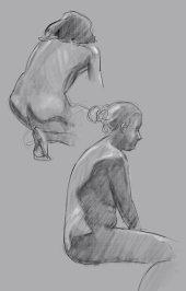 Skisse fra en (av mange) økter på Bergen Akt & Croquis. (Procreate, iPad Pro)