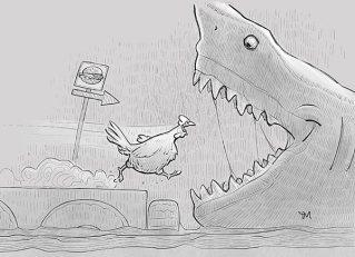 En av mine tegninger fra Inktober-utfordringen i 2018. (Clip Studio Paint)