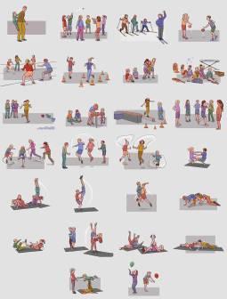 Illustrasjoner til aktivitetskassen.no, et online kartotek over aktiviteter for barn i barnehage og grunnskole. Kunde: Norsk Etat for Mat, Helse og Fysisk Aktivitet. (Photoshop)